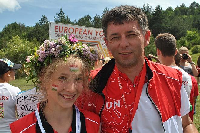 Szuromi Hanga és edzője, Viniczai Ferenc